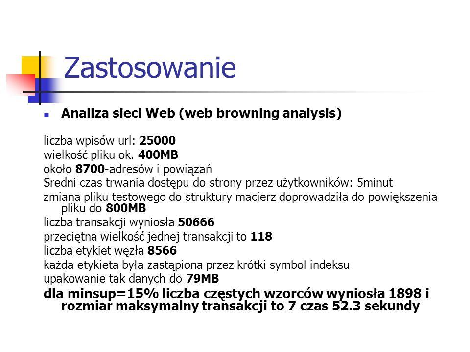 Zastosowanie Analiza sieci Web (web browning analysis)