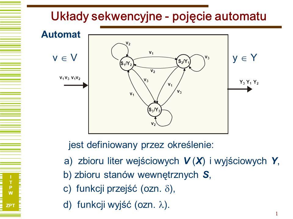 Układy sekwencyjne - pojęcie automatu
