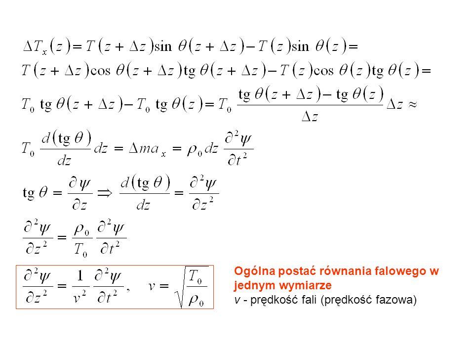 Ogólna postać równania falowego w jednym wymiarze