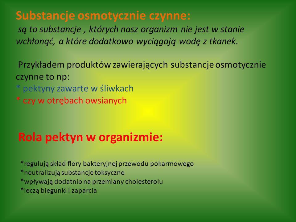Rola pektyn w organizmie: