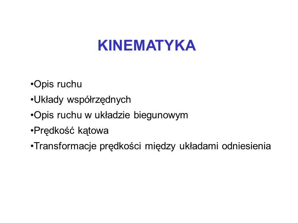 KINEMATYKA Opis ruchu Układy współrzędnych