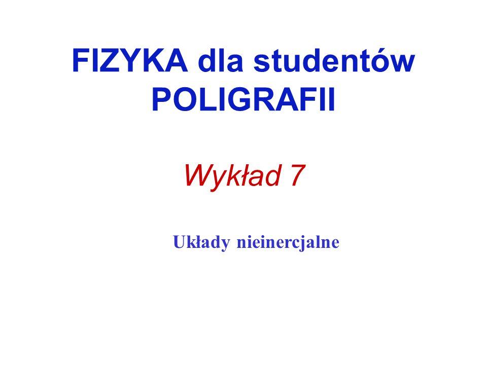 FIZYKA dla studentów POLIGRAFII Wykład 7