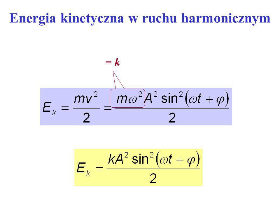 Energia kinetyczna w ruchu harmonicznym