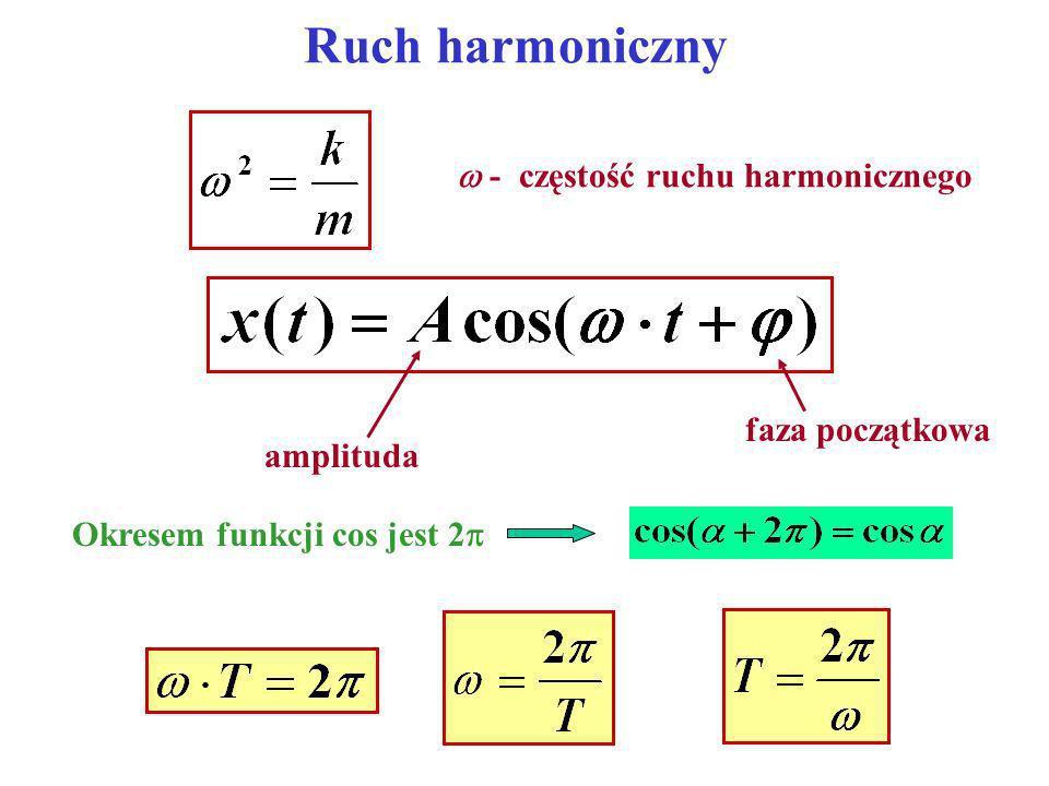 Ruch harmoniczny  - częstość ruchu harmonicznego faza początkowa