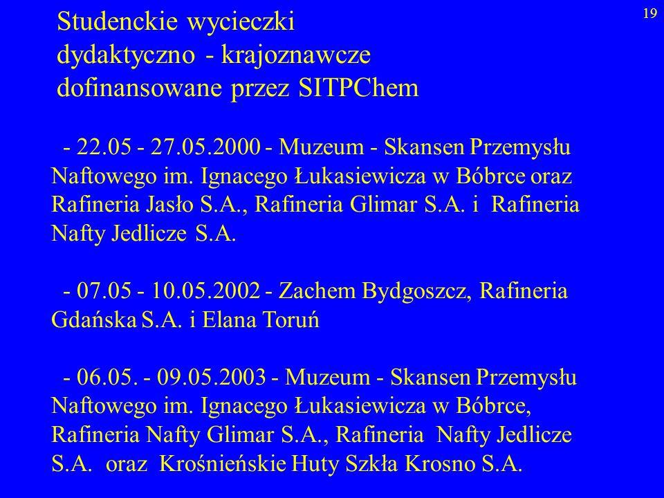 dydaktyczno - krajoznawcze dofinansowane przez SITPChem
