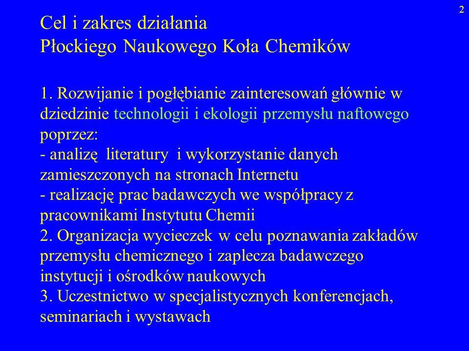 Płockiego Naukowego Koła Chemików