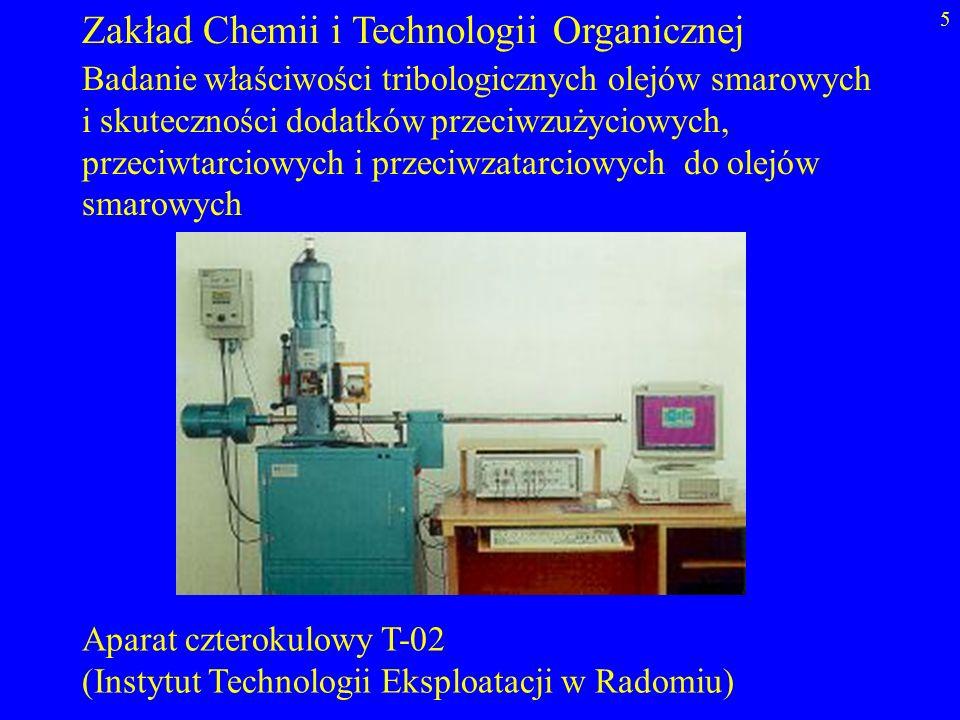 Zakład Chemii i Technologii Organicznej
