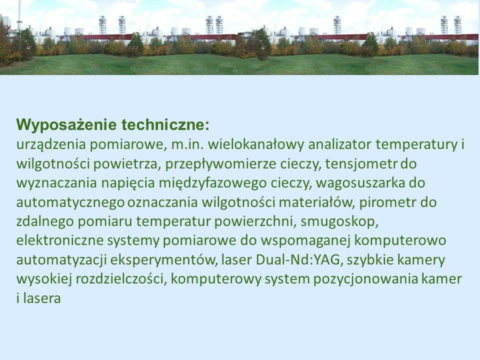 Wyposażenie techniczne: