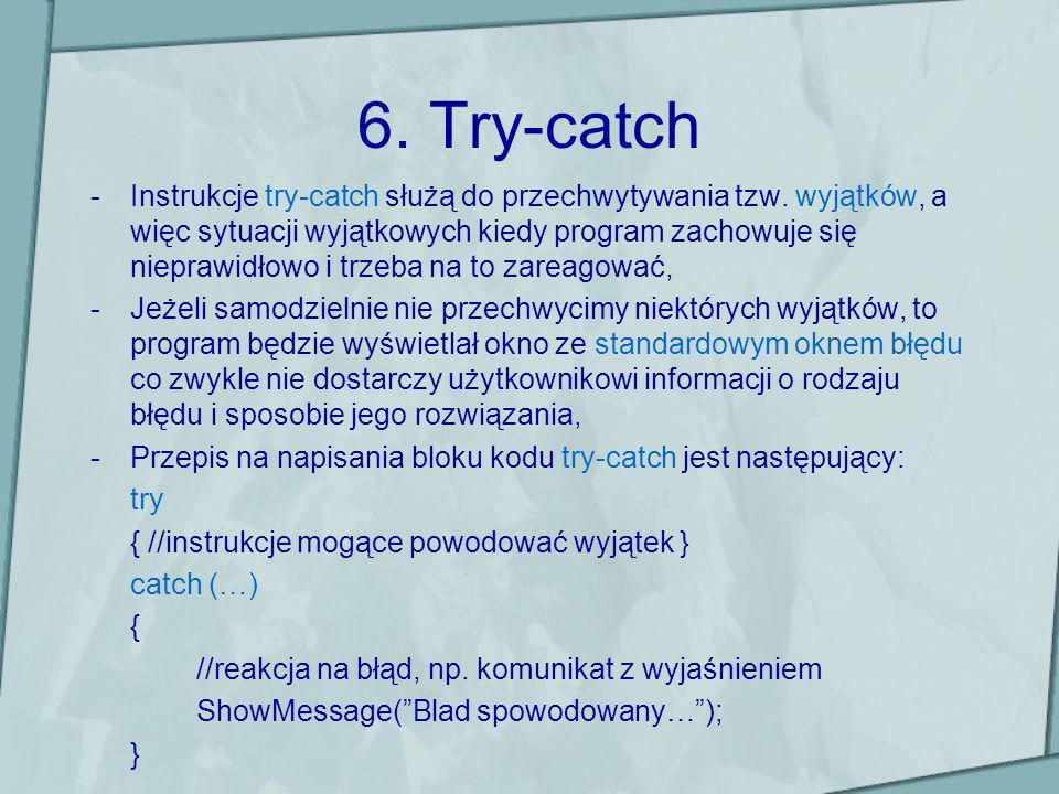 6. Try-catch