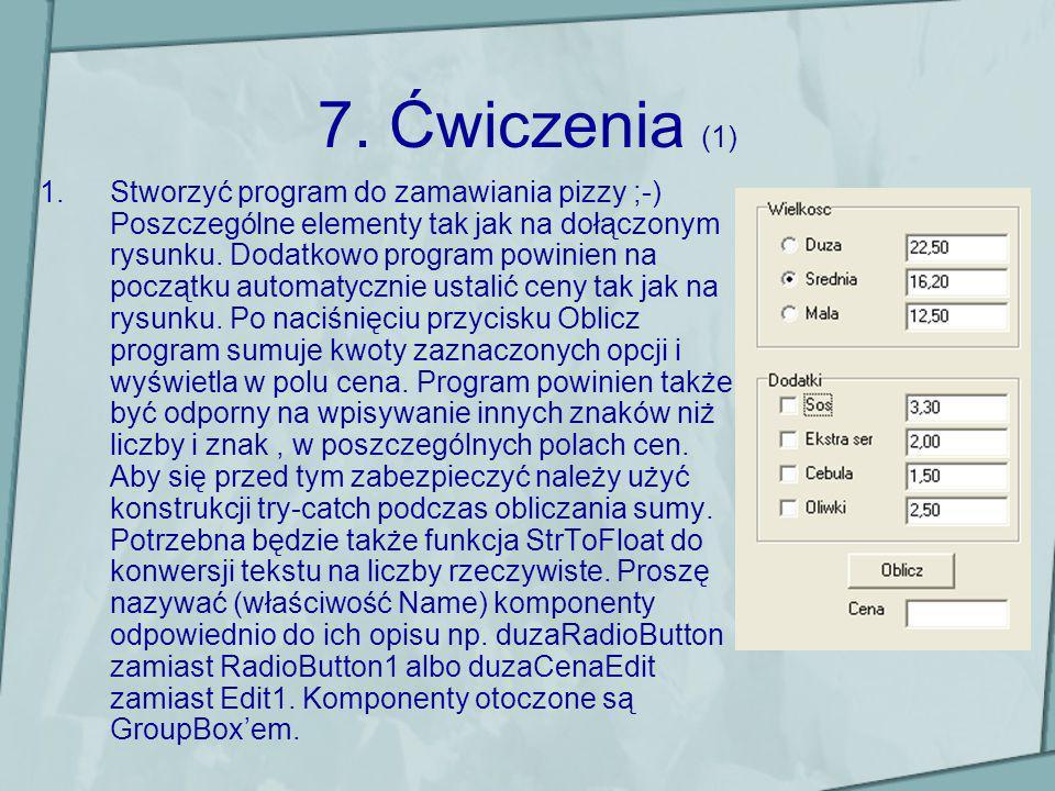 7. Ćwiczenia (1)