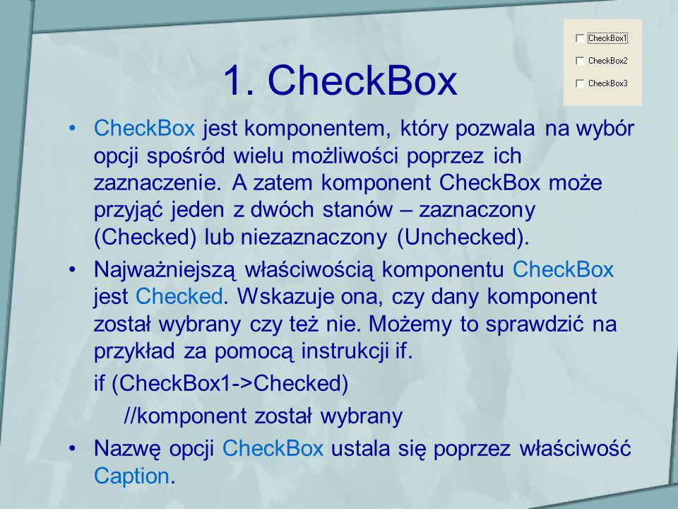 1. CheckBox