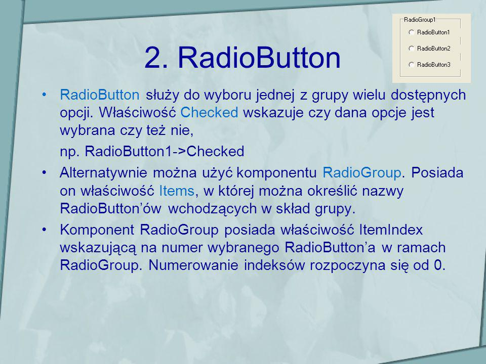 2. RadioButton