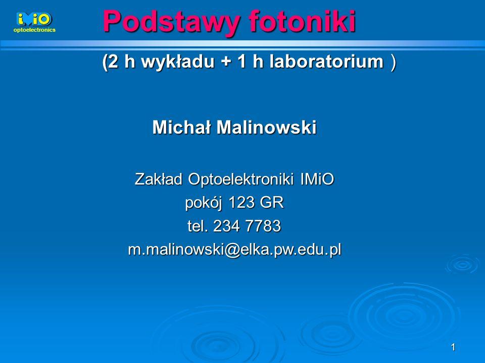 Zakład Optoelektroniki IMiO