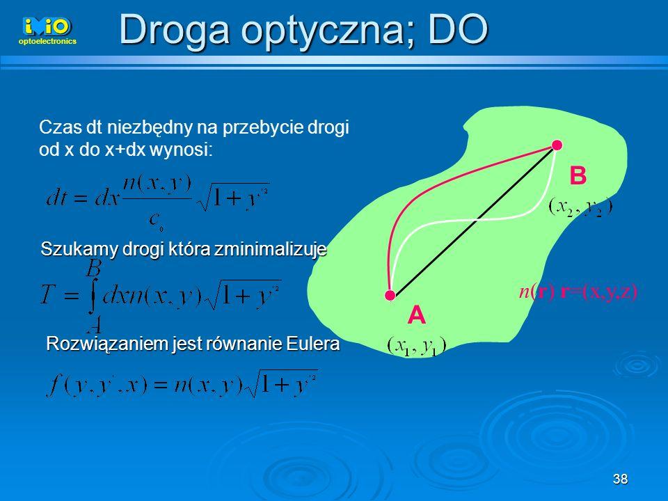 Droga optyczna; DO B A n(r) r=(x,y,z)