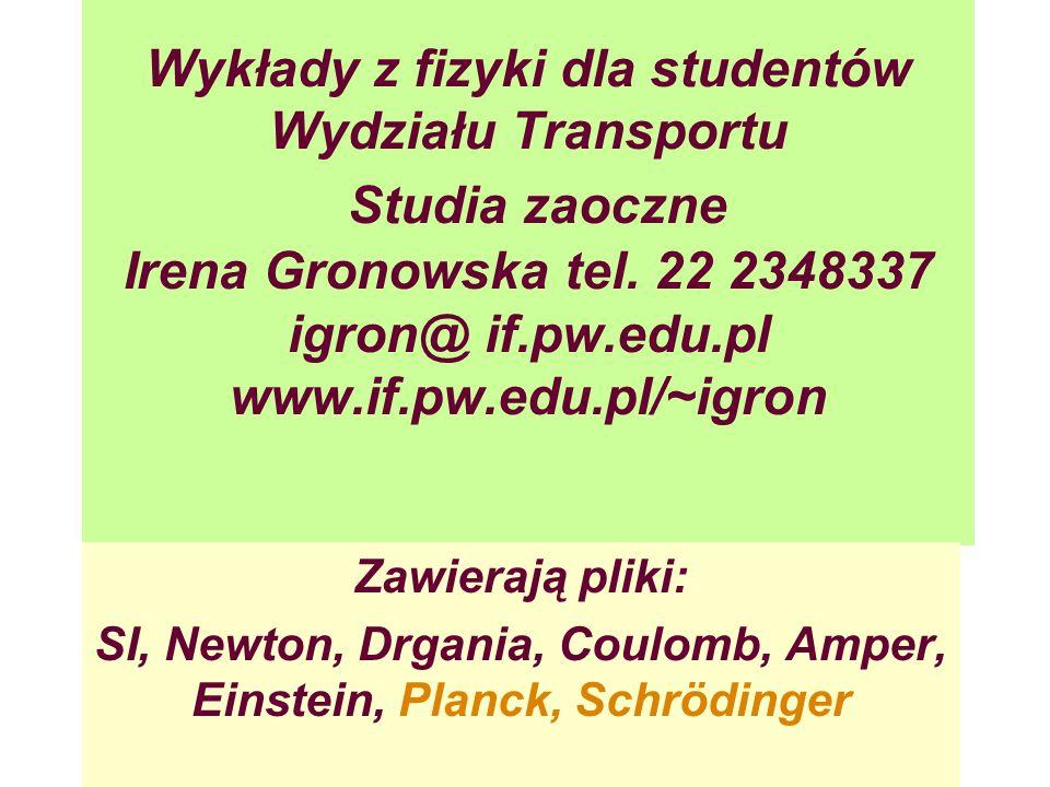 SI, Newton, Drgania, Coulomb, Amper, Einstein, Planck, Schrödinger