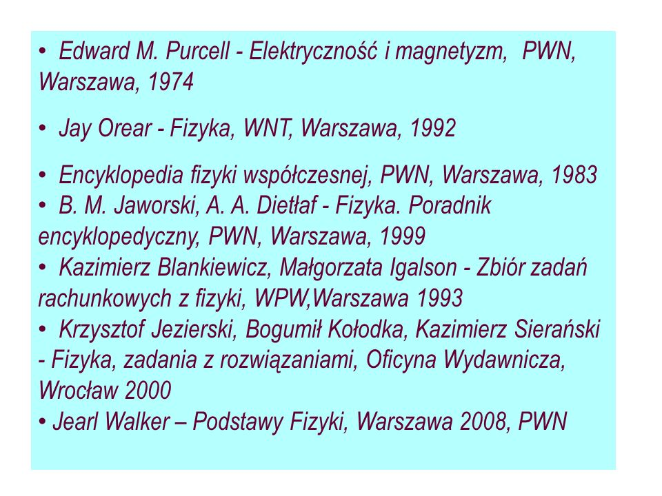Edward M. Purcell - Elektryczność i magnetyzm, PWN, Warszawa, 1974