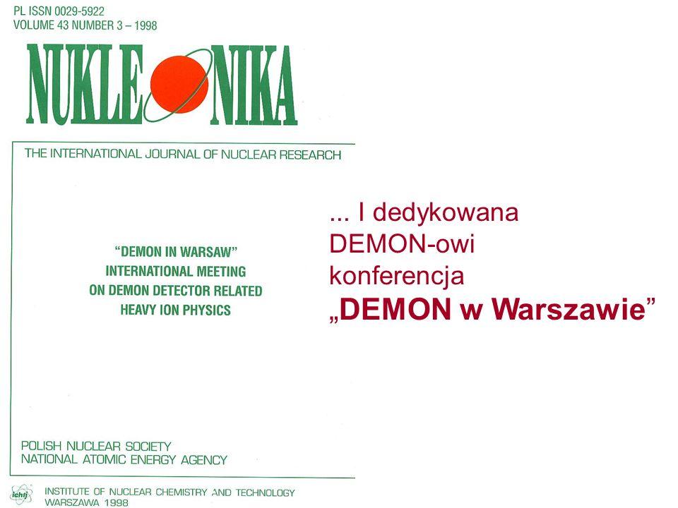 """... I dedykowana DEMON-owi konferencja """"DEMON w Warszawie"""