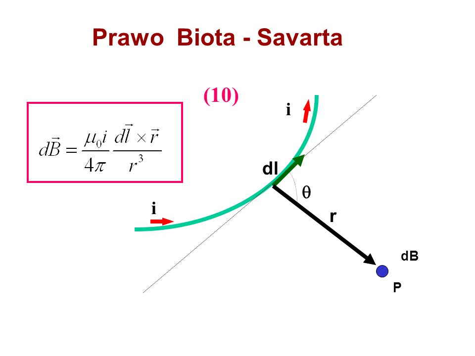 Prawo Biota - Savarta (10) i dl  i r dB P