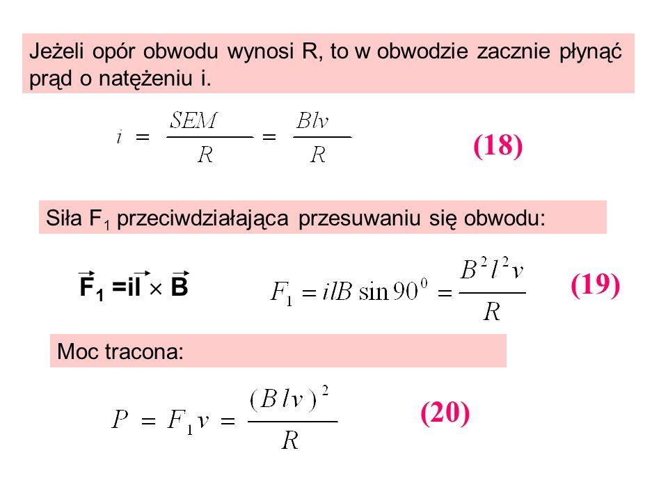 Jeżeli opór obwodu wynosi R, to w obwodzie zacznie płynąć prąd o natężeniu i.