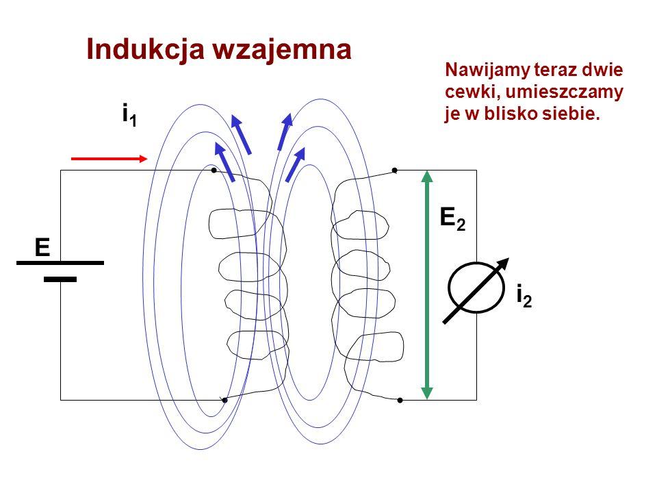 Indukcja wzajemna i1 E E2 i2
