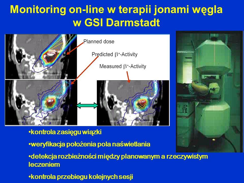 Monitoring on-line w terapii jonami węgla w GSI Darmstadt
