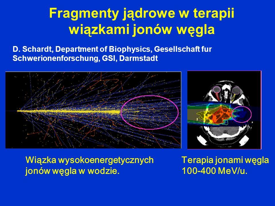 Fragmenty jądrowe w terapii wiązkami jonów węgla