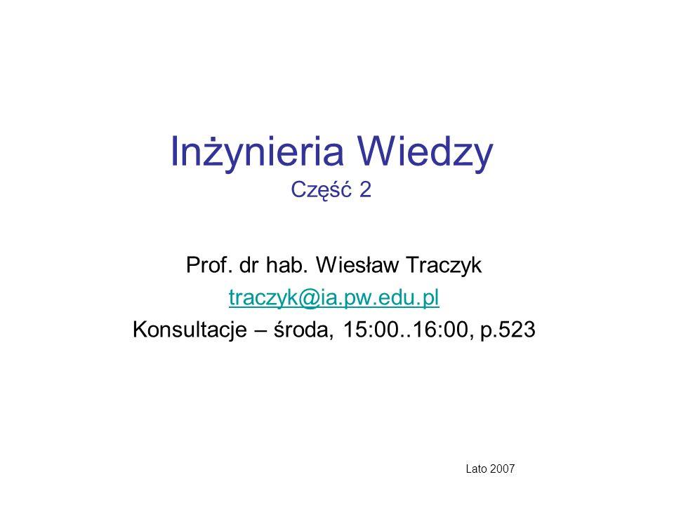 Inżynieria Wiedzy Część 2