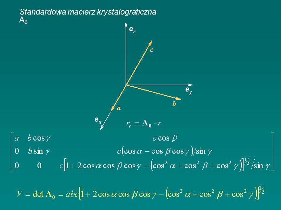 Standardowa macierz krystalograficzna A0