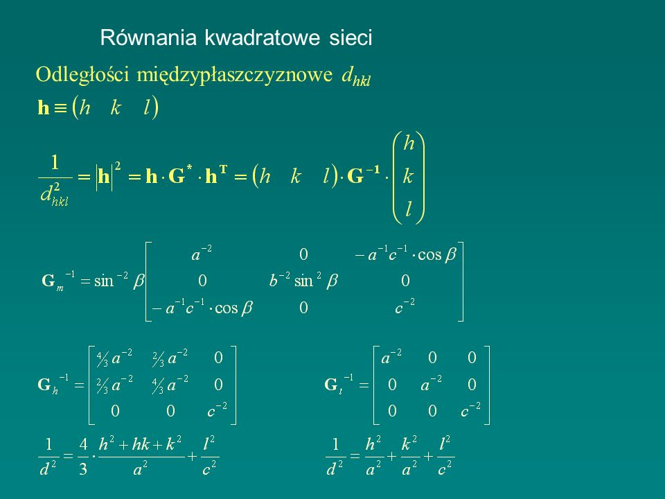 Równania kwadratowe sieci