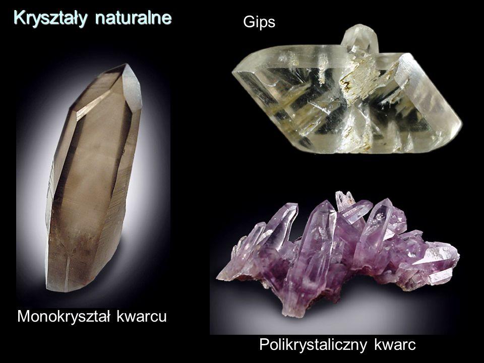 Kryształy naturalne Gips Monokryształ kwarcu Polikrystaliczny kwarc