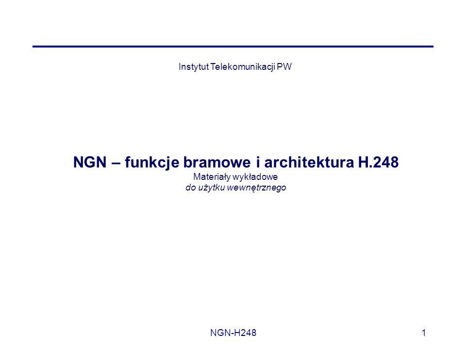 NGN – funkcje bramowe i architektura H.248