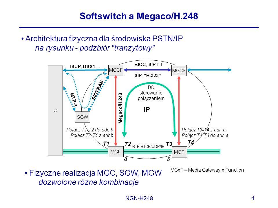 Softswitch a Megaco/H.248 Architektura fizyczna dla środowiska PSTN/IP