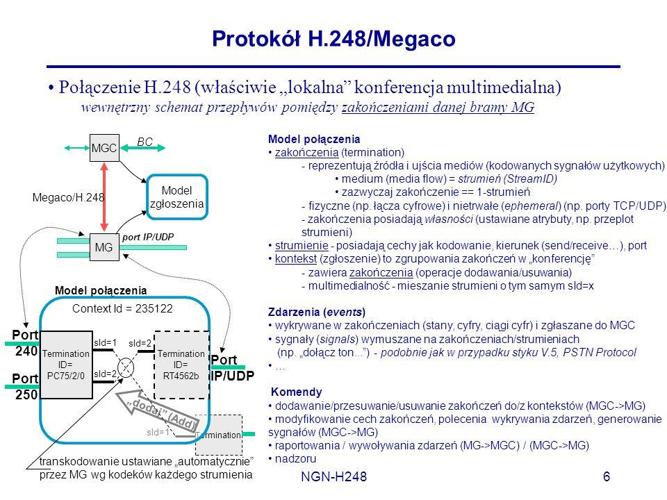 """Protokół H.248/Megaco Połączenie H.248 (właściwie """"lokalna konferencja multimedialna)"""