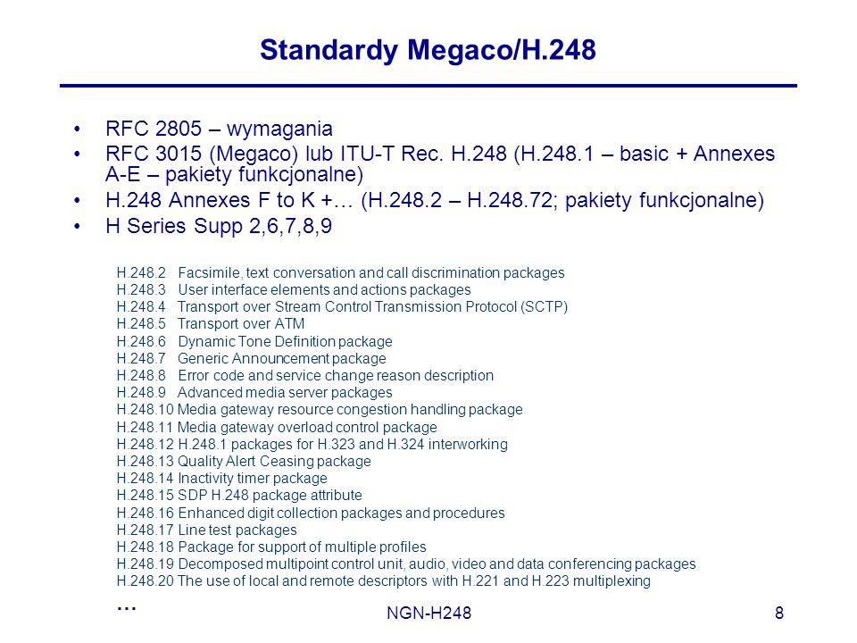 Standardy Megaco/H.248 RFC 2805 – wymagania