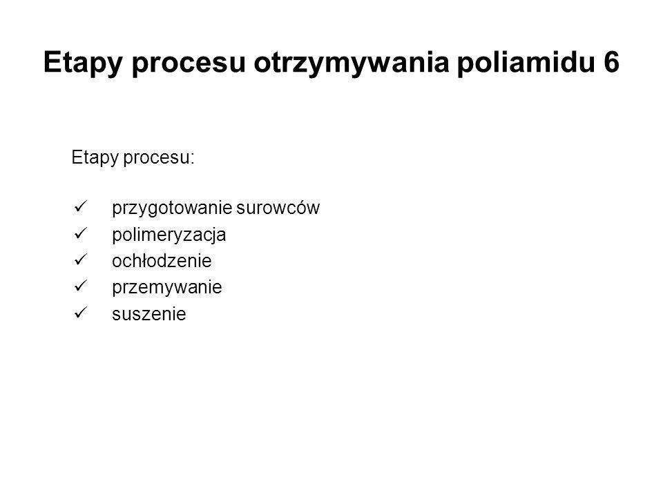 Etapy procesu otrzymywania poliamidu 6