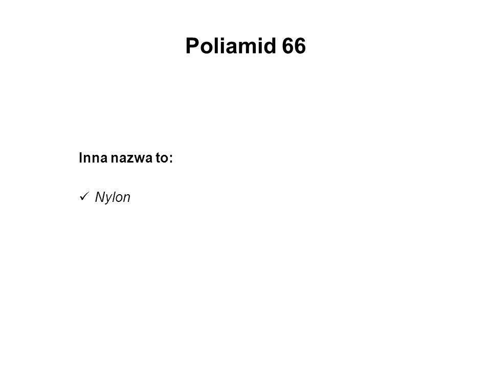 Poliamid 66 Inna nazwa to: Nylon