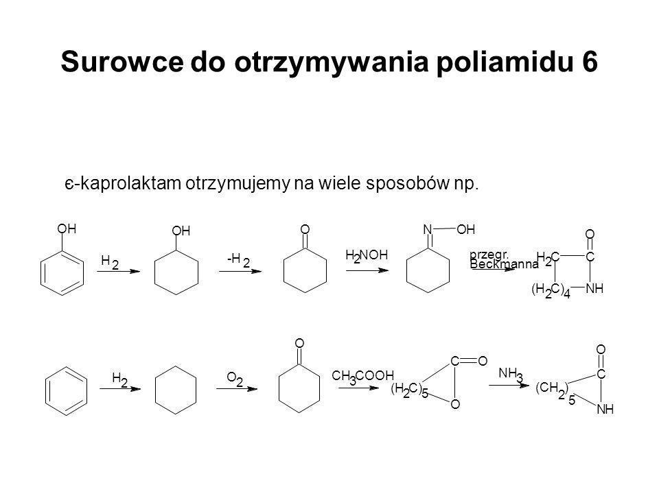 Surowce do otrzymywania poliamidu 6