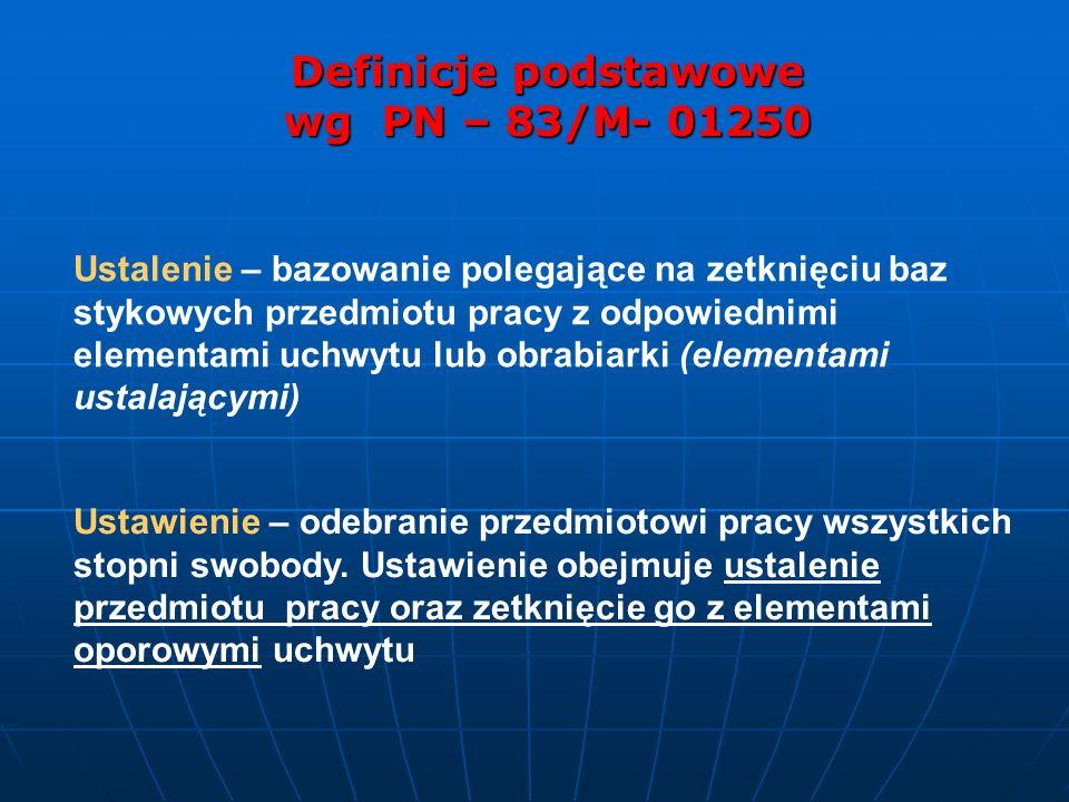 Definicje podstawowe wg PN – 83/M- 01250