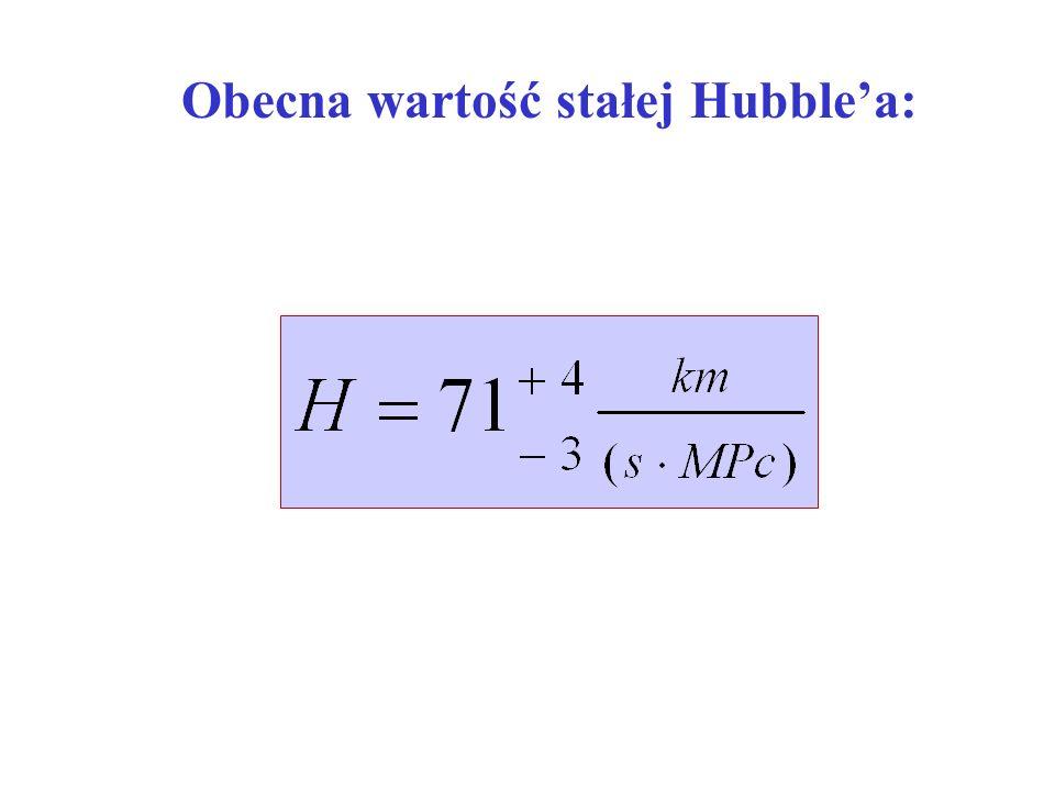 Obecna wartość stałej Hubble'a: