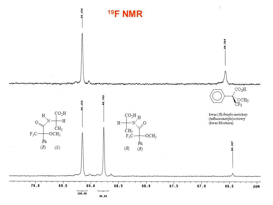 19F NMR C O H N P h F ( R ) S C O H H H N O C H F C O C H P h ( R ) (
