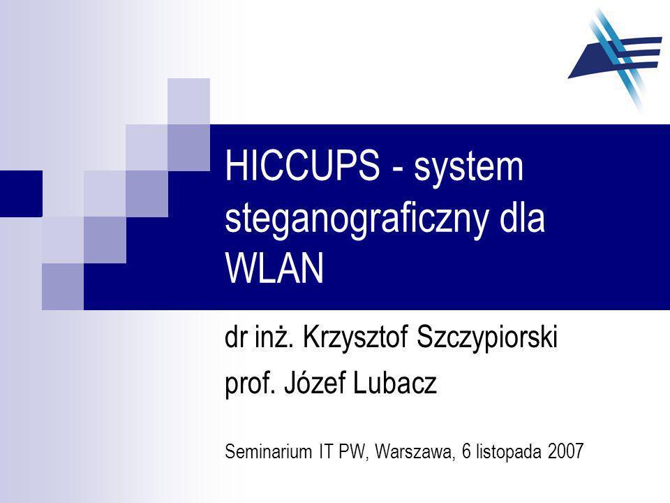 HICCUPS - system steganograficzny dla WLAN