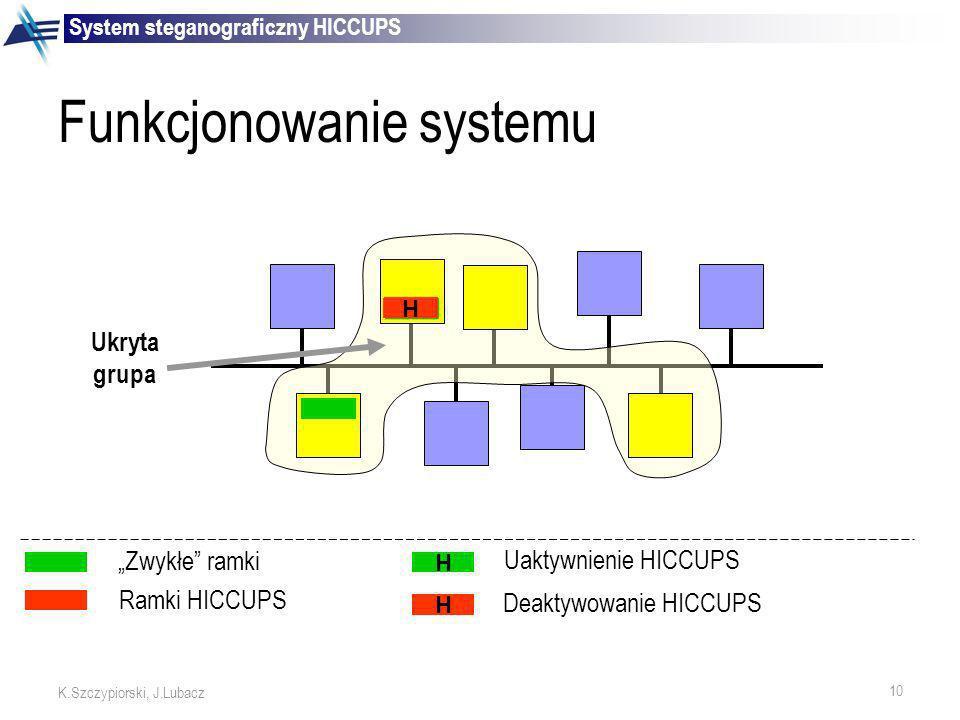 Funkcjonowanie systemu