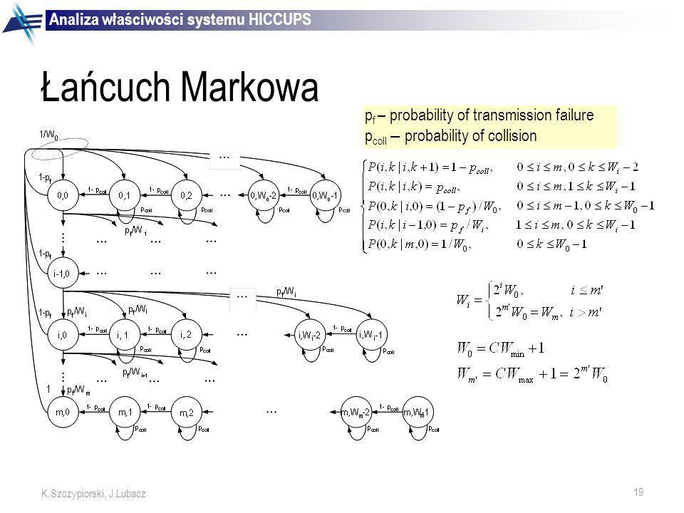 Łańcuch Markowa Analiza właściwości systemu HICCUPS