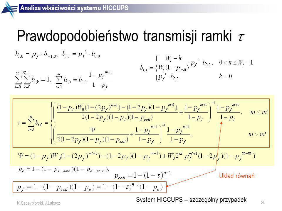 Prawdopodobieństwo transmisji ramki 