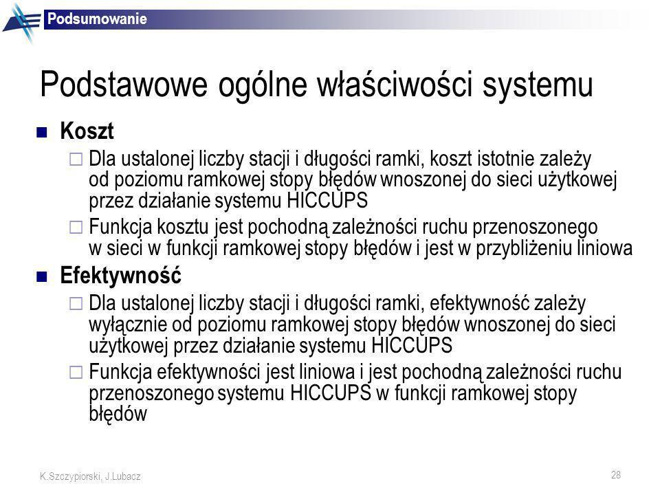 Podstawowe ogólne właściwości systemu
