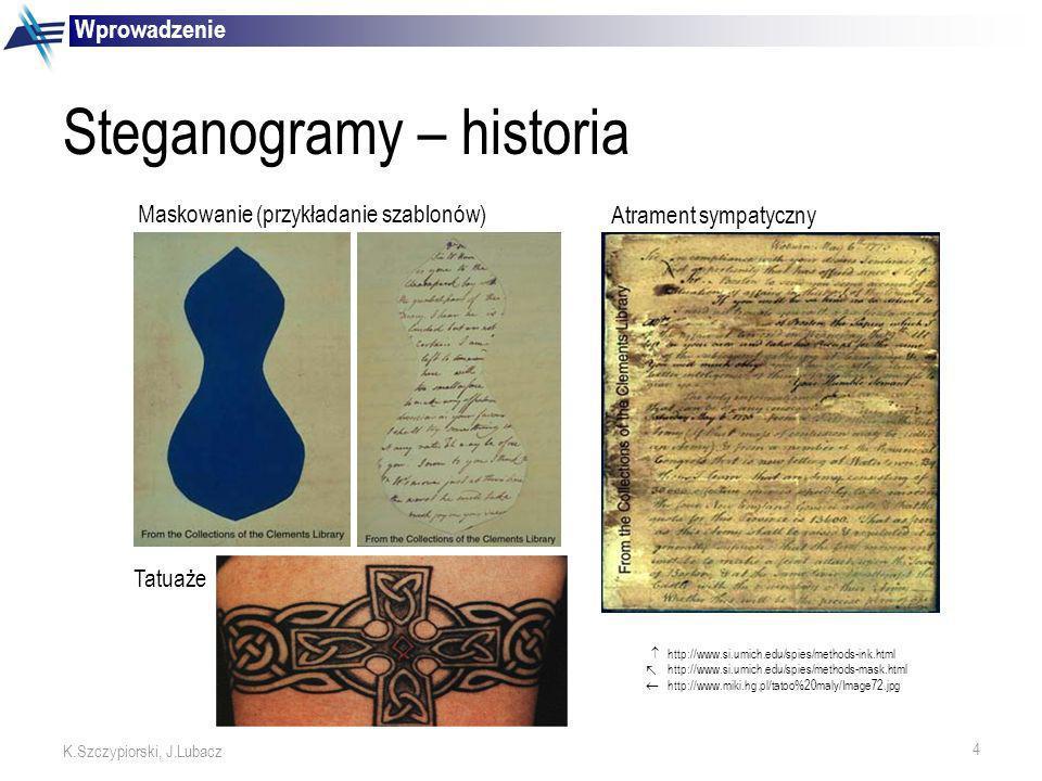 Steganogramy – historia