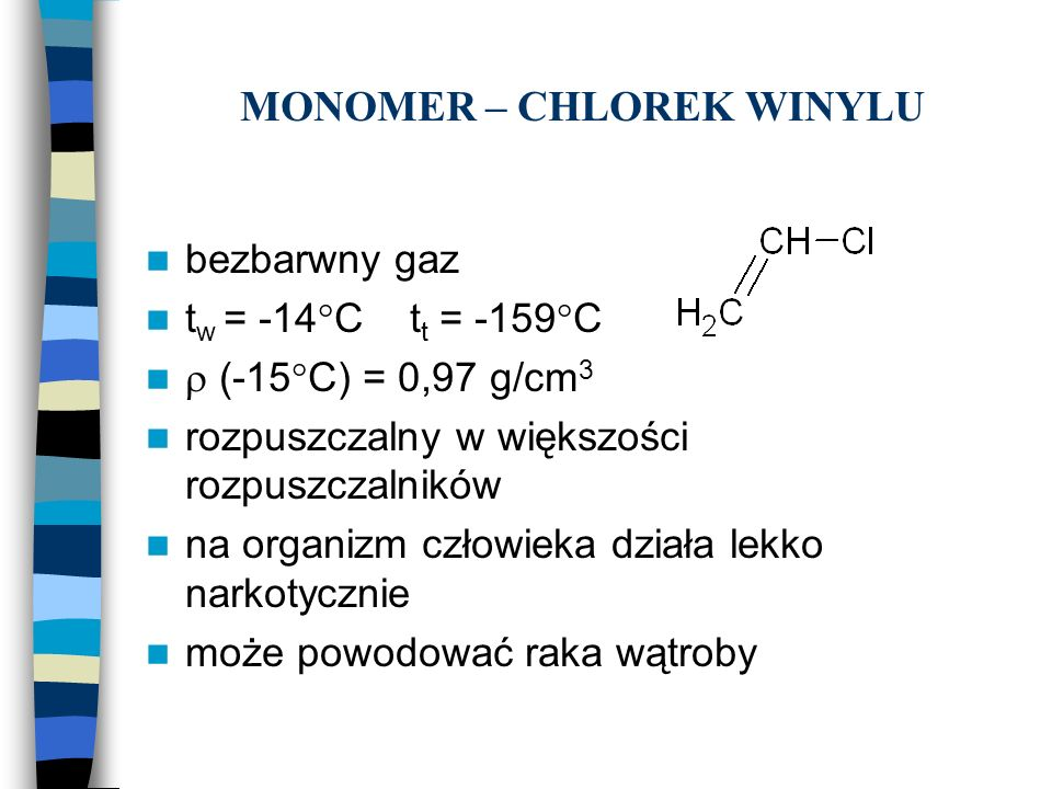 MONOMER – CHLOREK WINYLU