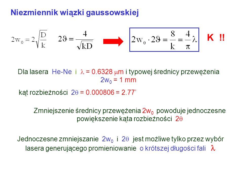 K !! Niezmiennik wiązki gaussowskiej