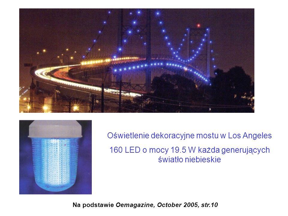 Oświetlenie dekoracyjne mostu w Los Angeles