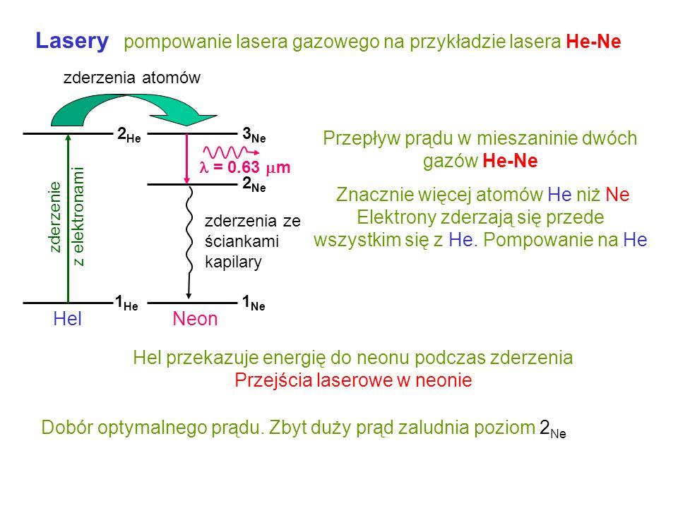 Przepływ prądu w mieszaninie dwóch gazów He-Ne
